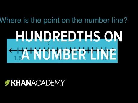 Identifying hundredths on a number line | Math | 4th grade ...