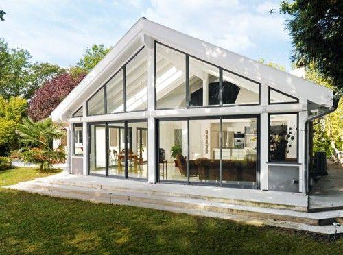 véranda, rêve, dedans, dehors, extension, maison, cuisine, salon, chambre, cloison, ouvert ...