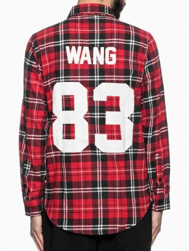 "Flannel shirt ""Wang"" from the Les (Art)ists collection in red."