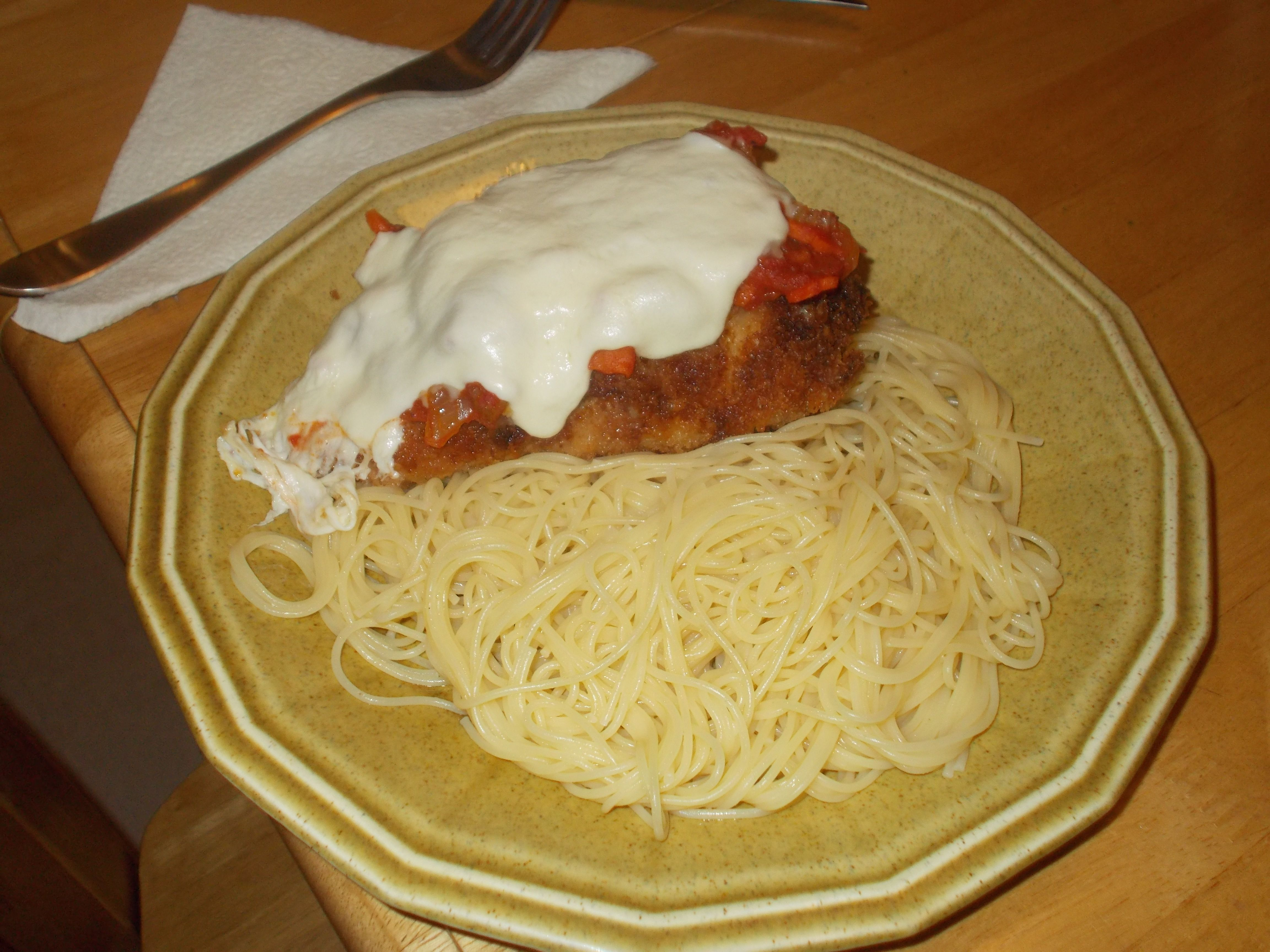 Nancy Fullers' chicken parm recipe.Turned out great