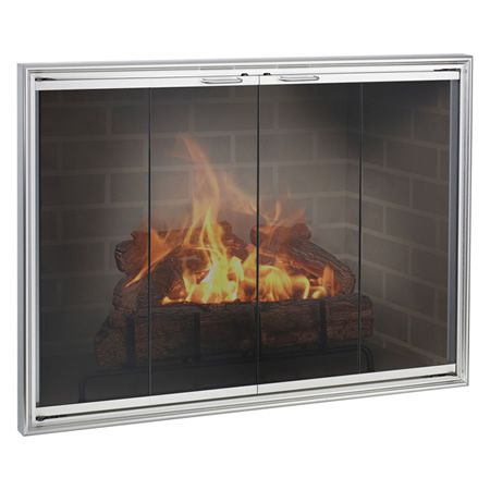 Shadow Masonry Aluminum Fireplace Glass Door Woodlanddirect