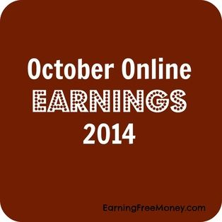 October Online Earnings 2014 - Make Money on Internet Free #blogincome