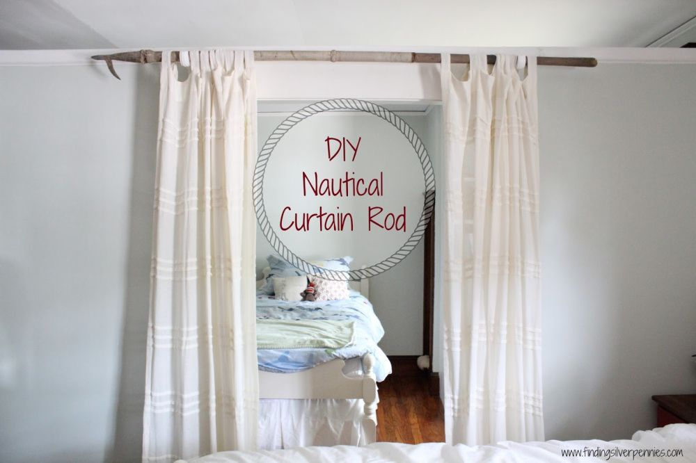 Nautical Curtain Rods Diy Curtain Rods Homemade Curtain Rods