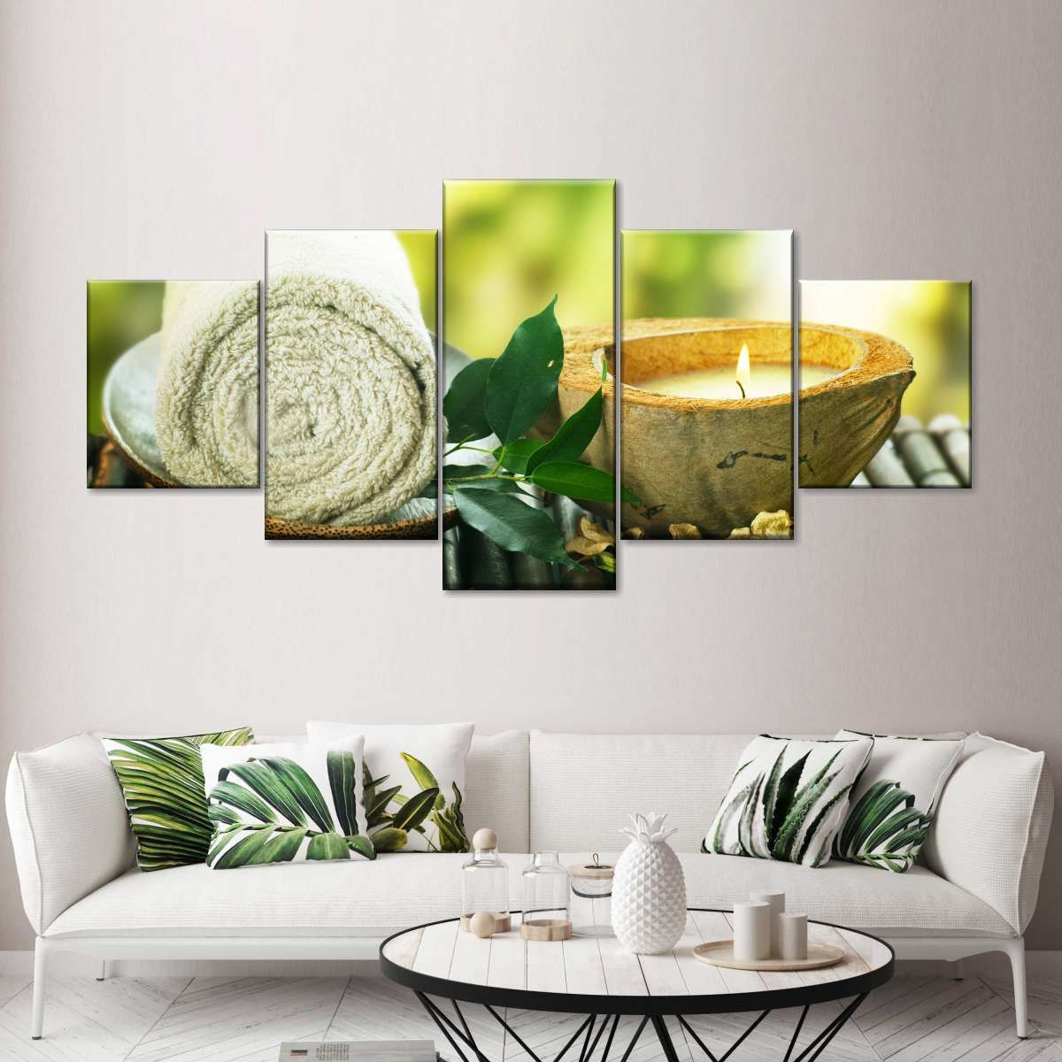 Serenity Multi Panel Canvas Wall Art Custom Wall Art Massage Room Decor Decor