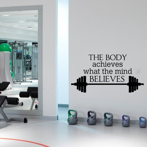 Sport quote gym wall decals stickers motivational quotes wall