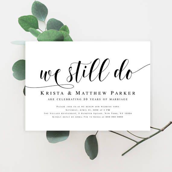 Vow renewal invitation template download We still do invitations Vow renewal invite template Invitation instant wedding Printables pdf #vm31