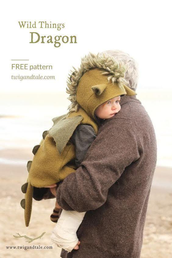 FREE Wild things Dragon pattern! #babykidclothesandideas