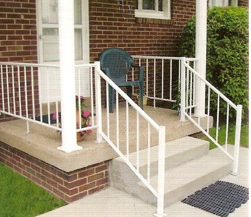 Off White Wrought Iron Outside Railing Midway Aluminum Porch