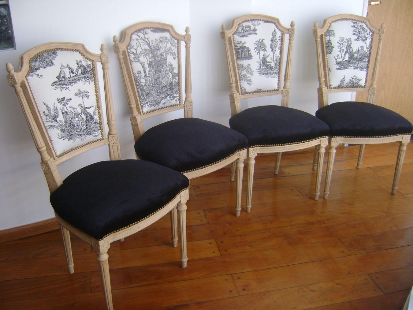 Juego de sillas estilo frances luis xvi 7200 en cosas para - Sillas estilo luis xvi ...