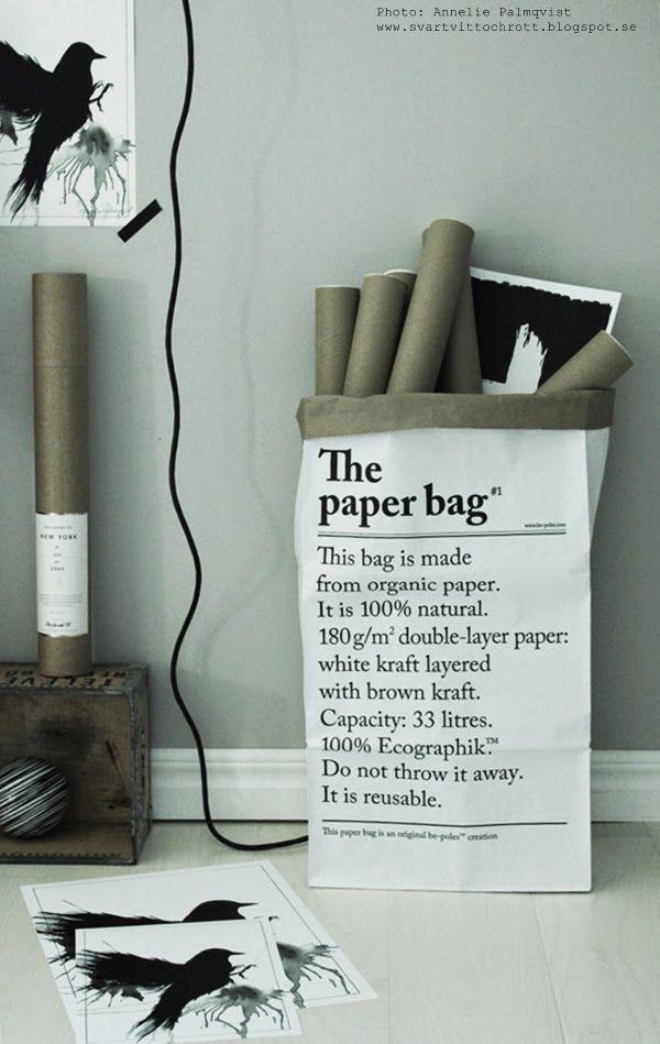Le sac en papier http://se3.co.nz/products/le-sac-en-papier www.craftynoe.com