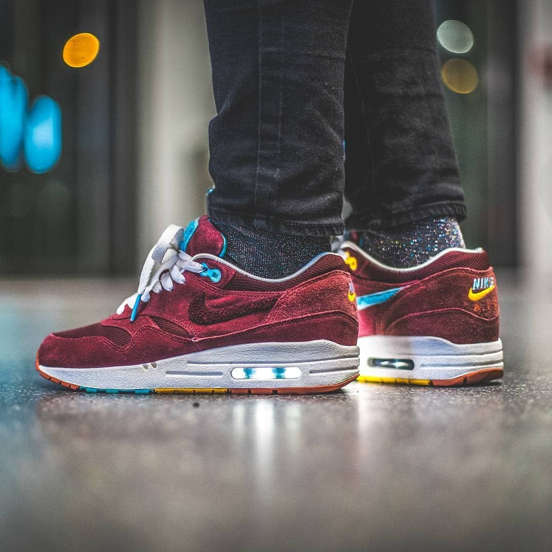 f91d369826d6  alissa bln in the Patta x Parra x Nike Air Max 1  Cherrywood.      larsfroehlich