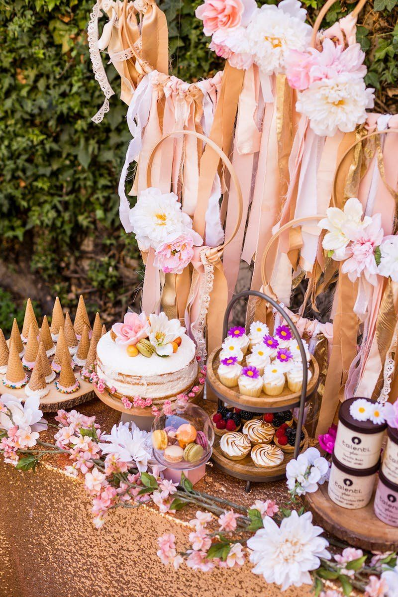 0ed766bd5adb How to Put Together a Dessert Bar for Your Dreamy Boho Bridal Shower ...