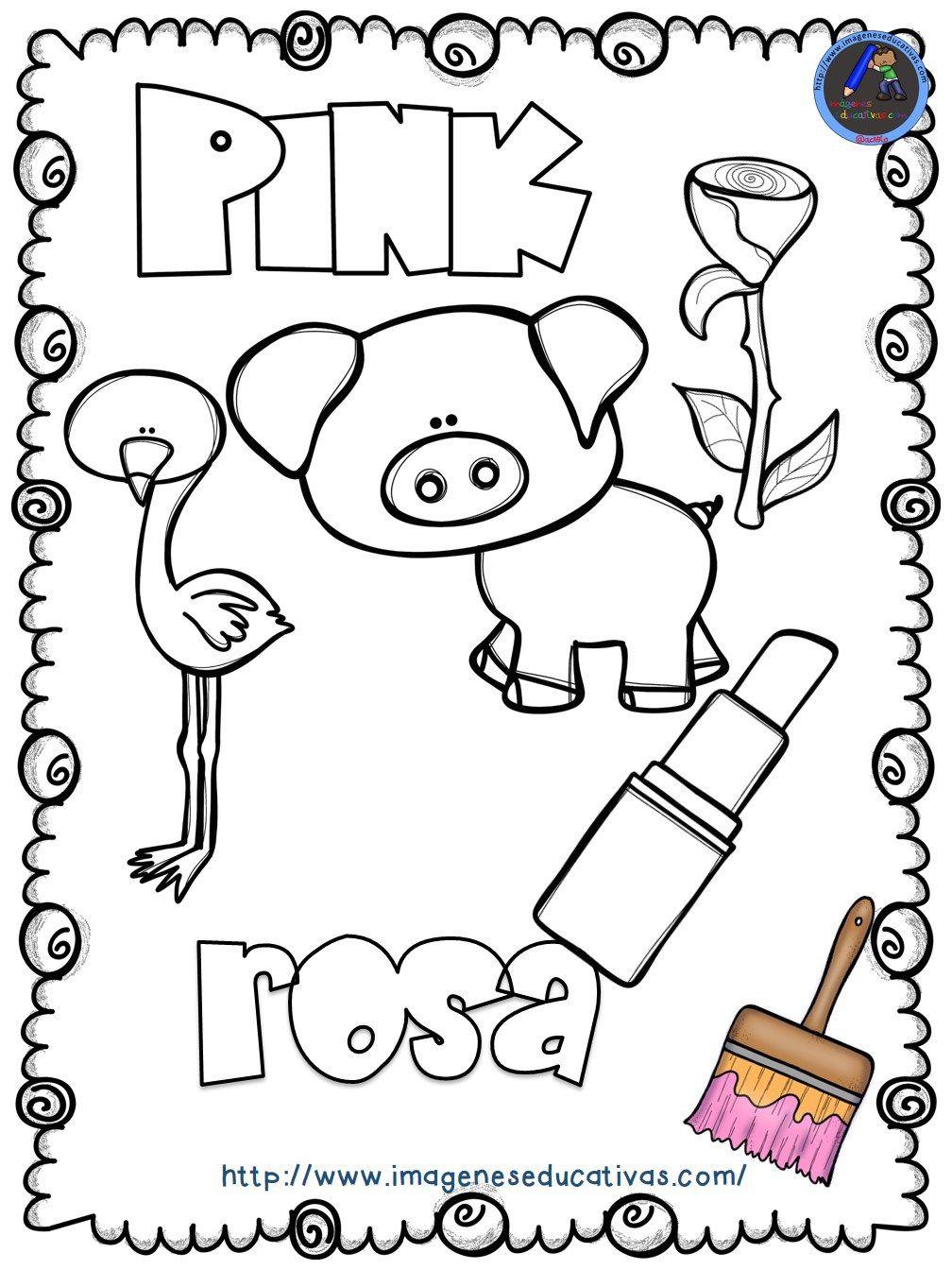 Mi Libro De Los Colores Para Colorear Ingles Para Preescolar