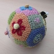 Knitted ball, Folksy