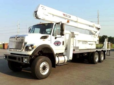 used bucket truck for sale terex hi ranger tcx65 100 2014 international 7400 utility fleet. Black Bedroom Furniture Sets. Home Design Ideas