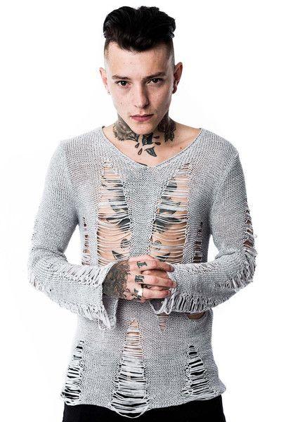Baal Knit Sweater [GREY]/Unisex Fit