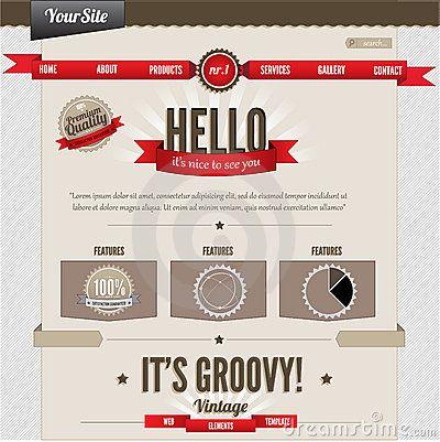 Vintage Retro Website Vintage Website Design Website Template Design Vintage Websites