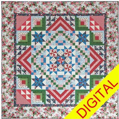 Cottage Romance (Part 6) Digital Quilt Pattern