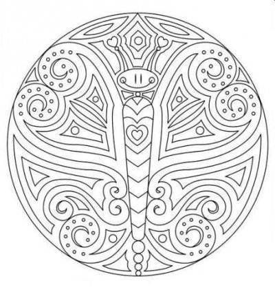 Butterfly Mandala Coloring Pages Mandala Coloring Coloring Pages