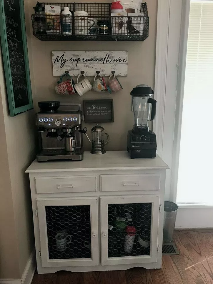 32 Best Diy Rustic Home Decor Ideas That You Could Create It Quickly 6 Coffee Bar Station Coffee Bar Home Home Coffee Stations