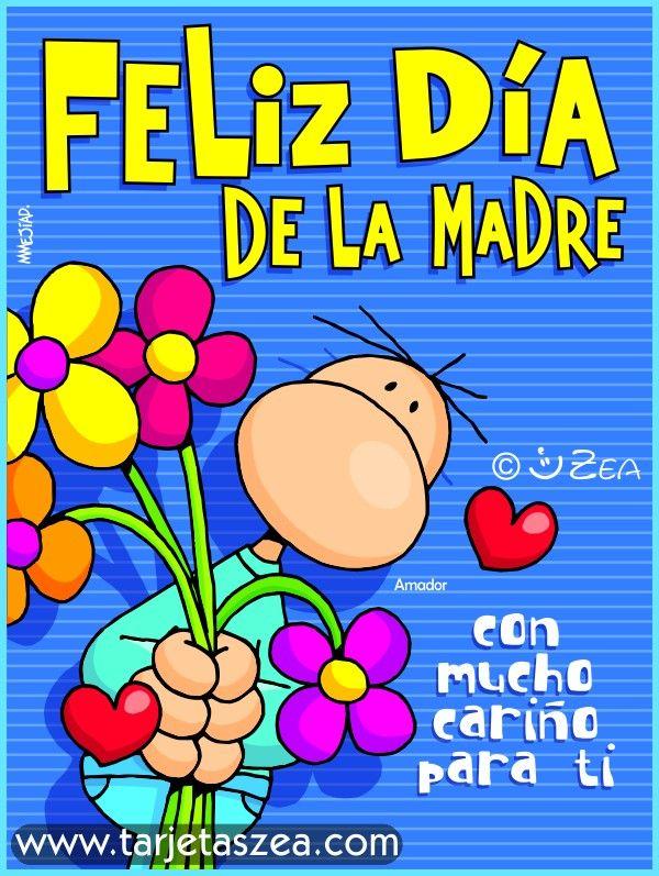 Tarjeta del día de la madre con flores, imágenes para el facebook ...