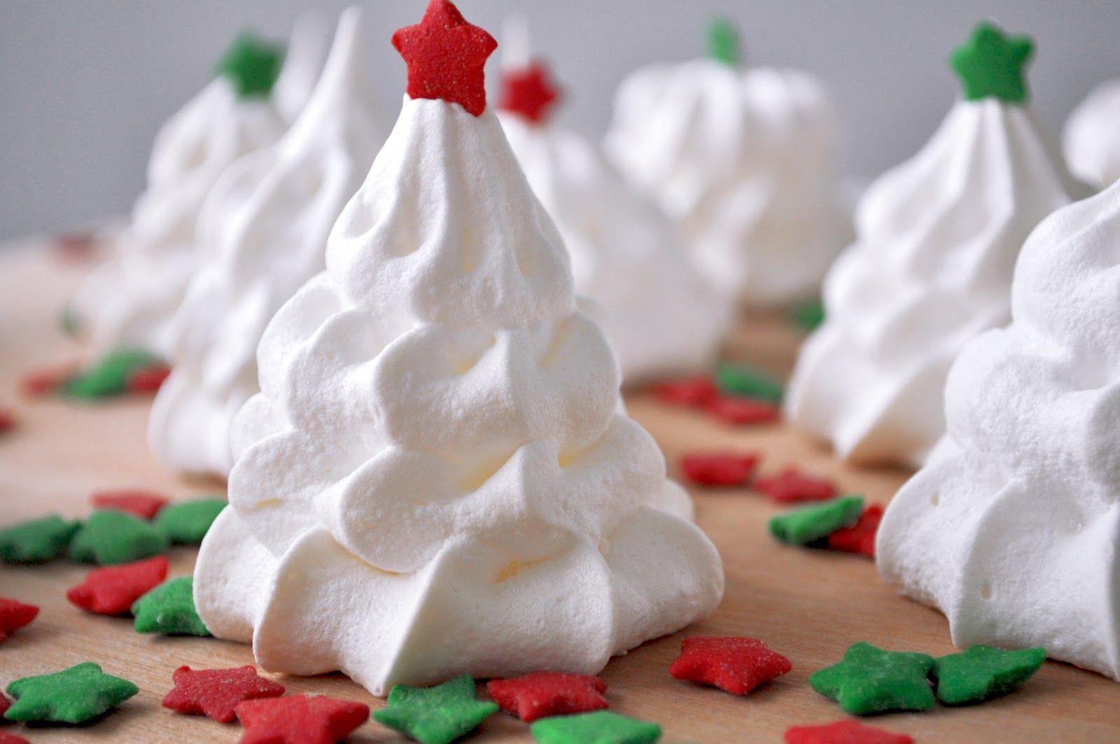 Fashion Gourmet: Christmas baking week - Meringue trees and snowmen ...