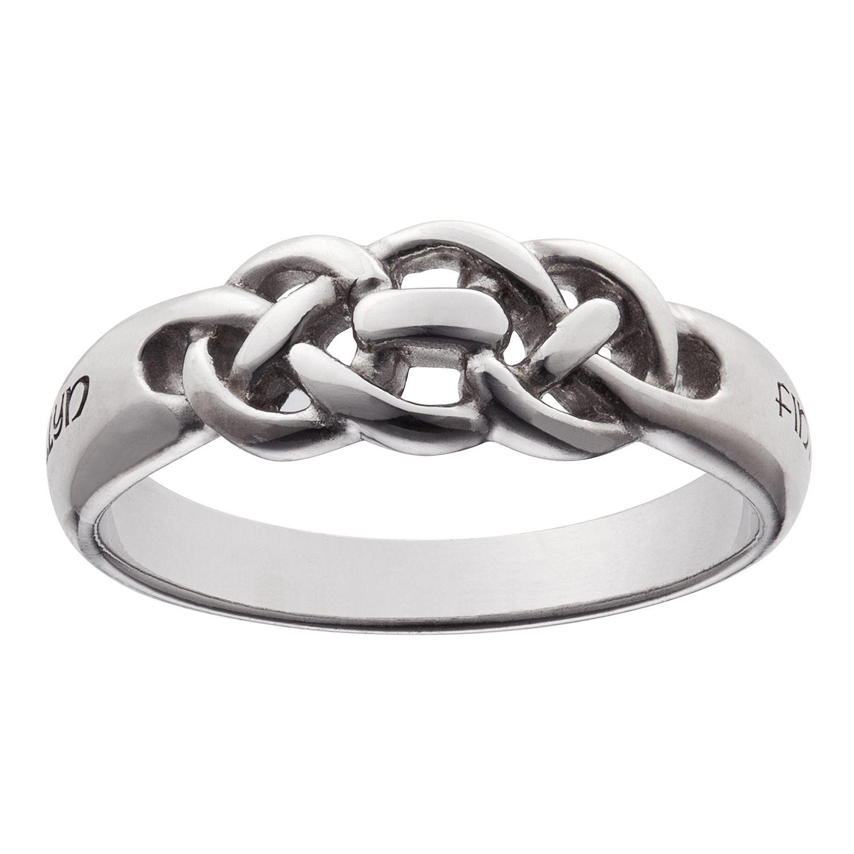 Engravable celtic knot coupleus ring celtic jewelry pinterest