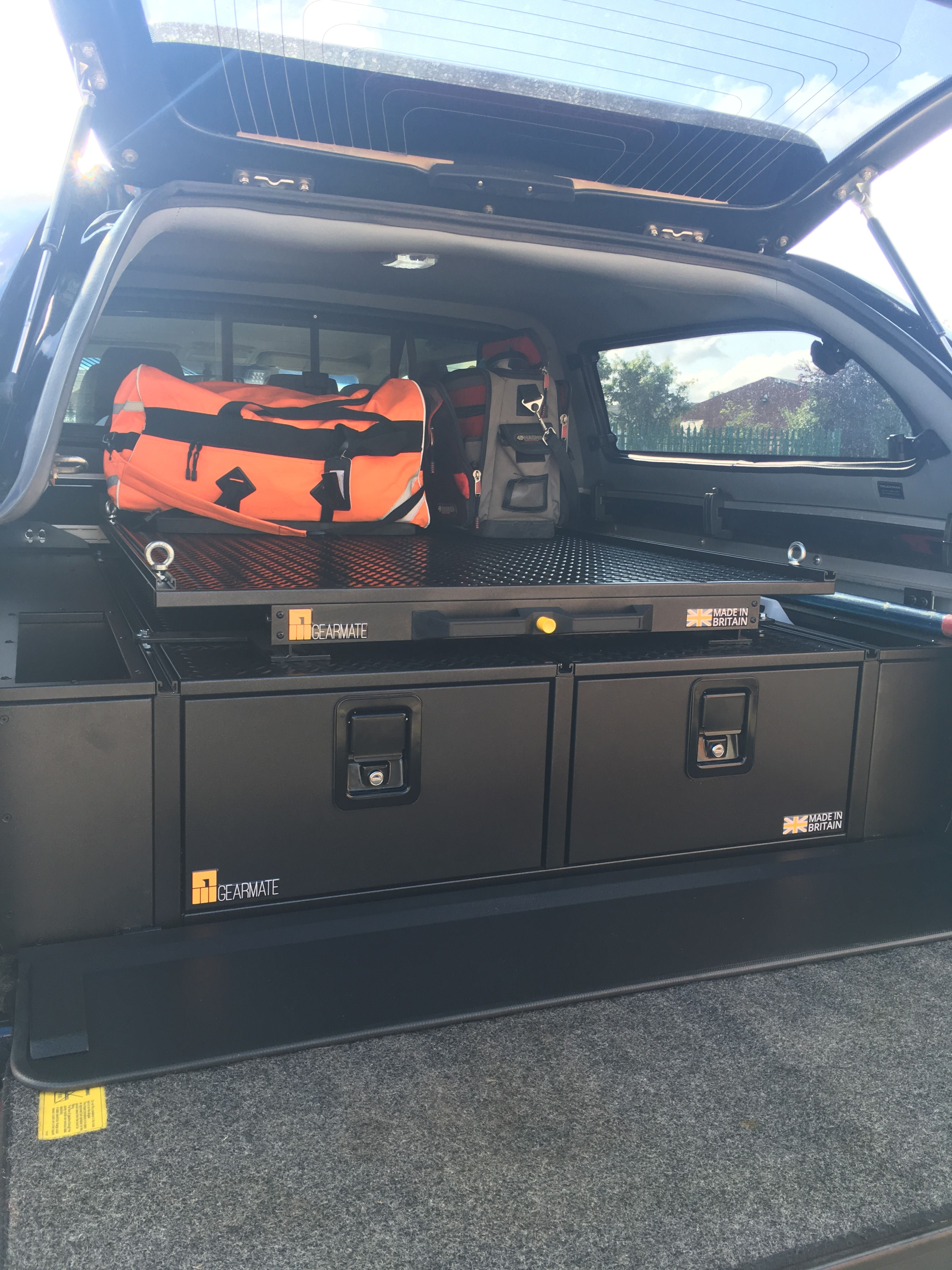Nissan Navara with gearmate 300MM Twin Drawers, Infill