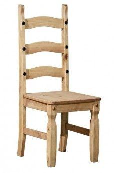 holzstuhl merida massivholz pinie landhausstil lehnstuhl esstisch stuhl st hle pinterest. Black Bedroom Furniture Sets. Home Design Ideas