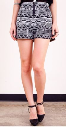 Sideline Sass Boutique - Aztec Shorts