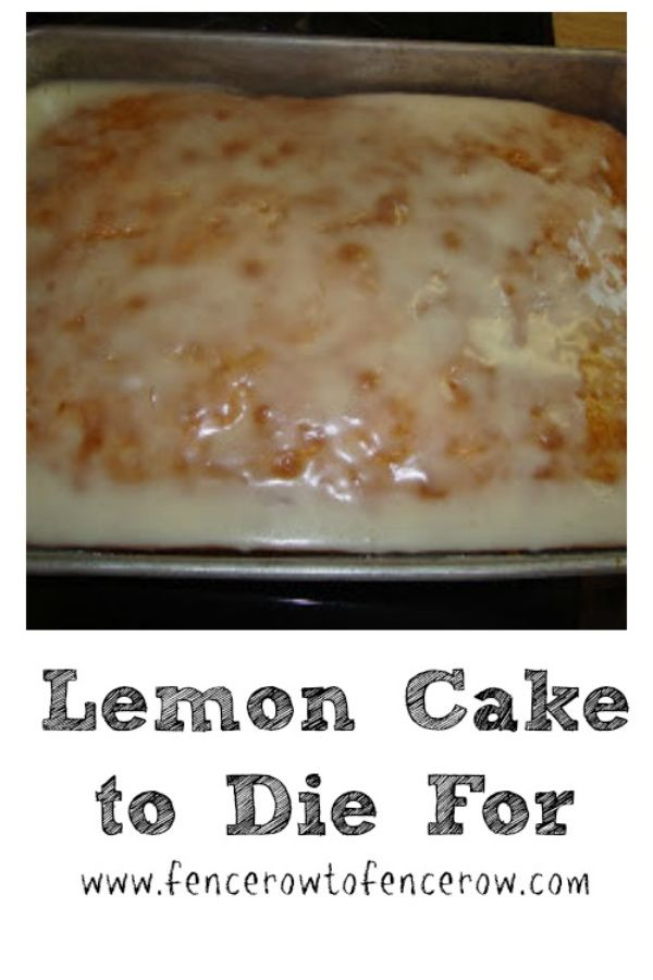 Lemon Cake to Die For