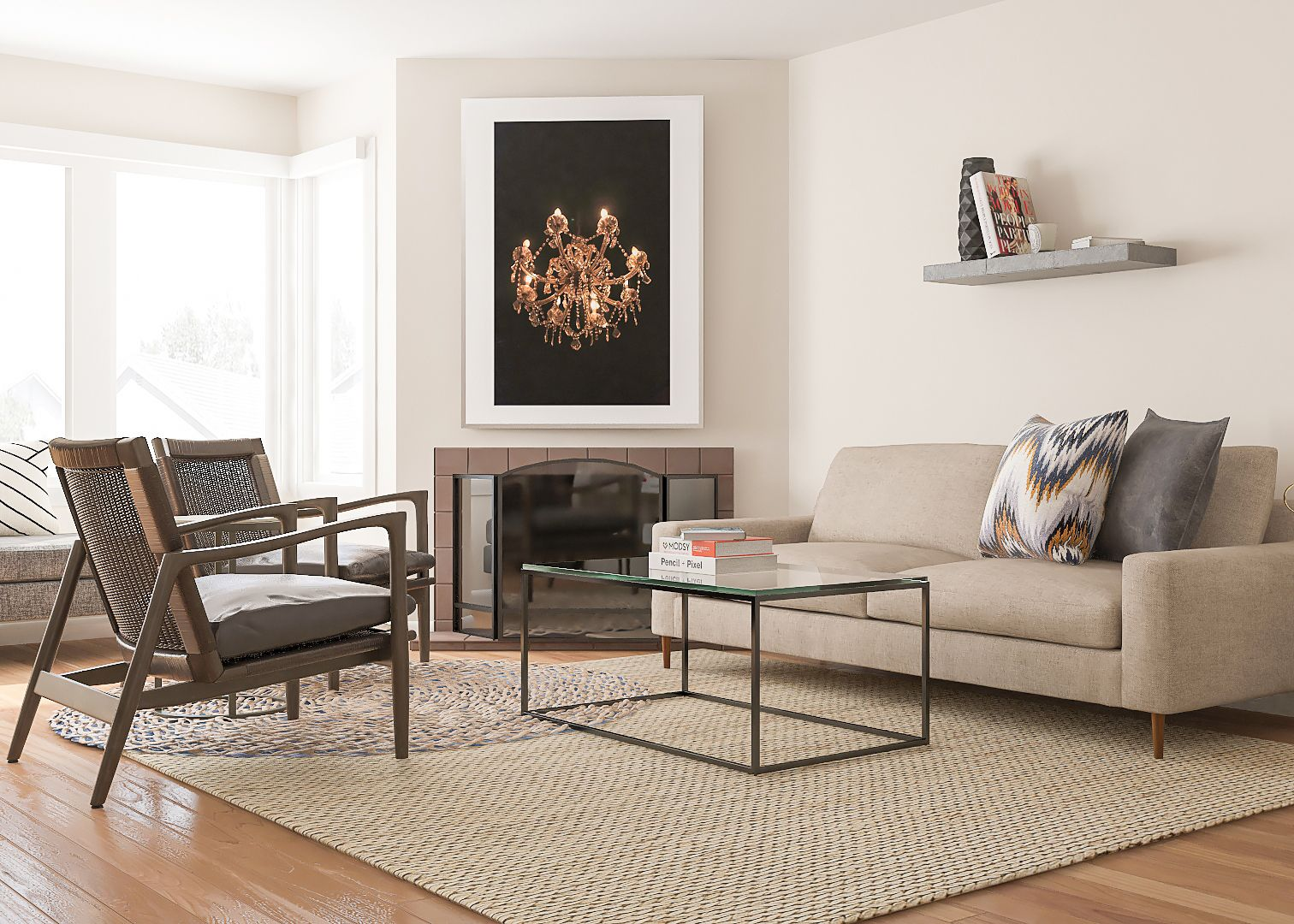 Contemporary and comfortable living room design ideas ...