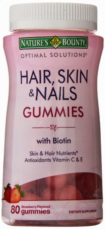 Hair Vitamins  Natureus Bounty Hair Skin u Nails Gummies with