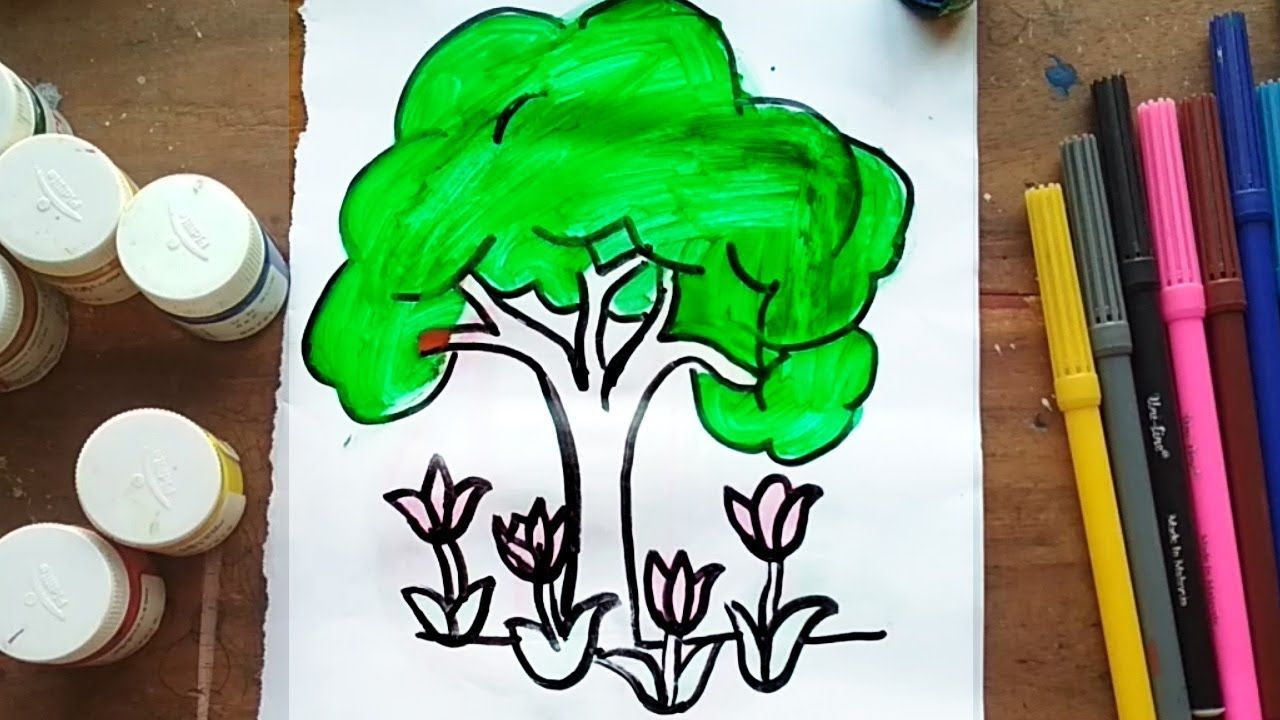 How To Draw A Beautiful Tree Beautiful Tree Drawings Beautiful
