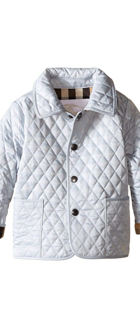 Burberry Kids Colin Quilted Jacket (Infant/Toddler) (Ice Blue ... : burberry kids quilted jacket - Adamdwight.com