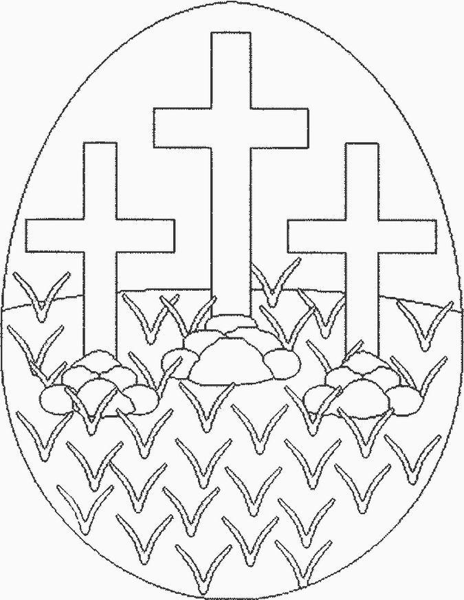Pin On Kosmetika Preschool religious easter coloring
