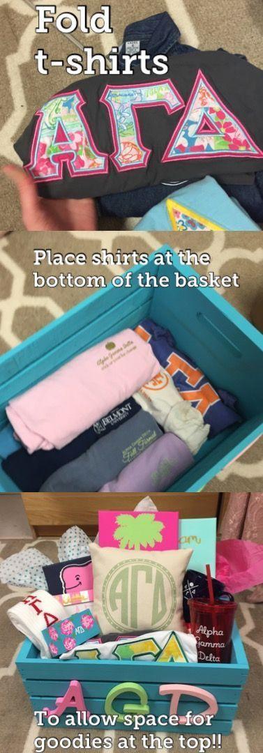 Basket ideas sorority chi omega 64 super ideas #biglittlecanvas