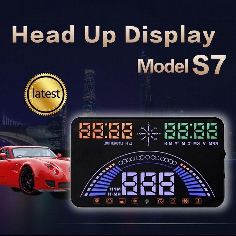 S7 5 8 Inch Hud Obd Ii Gps Driving Data Diagnosis Windscreen Car
