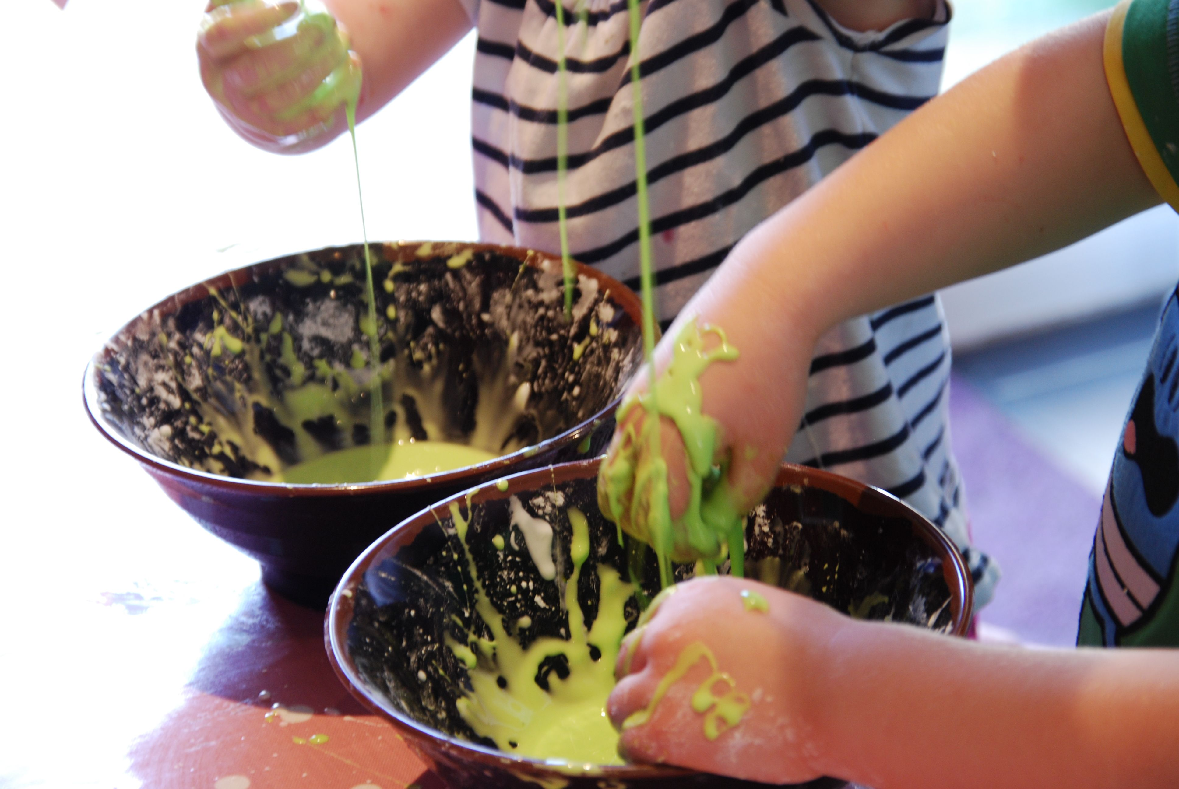 Oobleck recipe slime making slime and activities making slime or goo if you make a ball with the slime it is ccuart Image collections