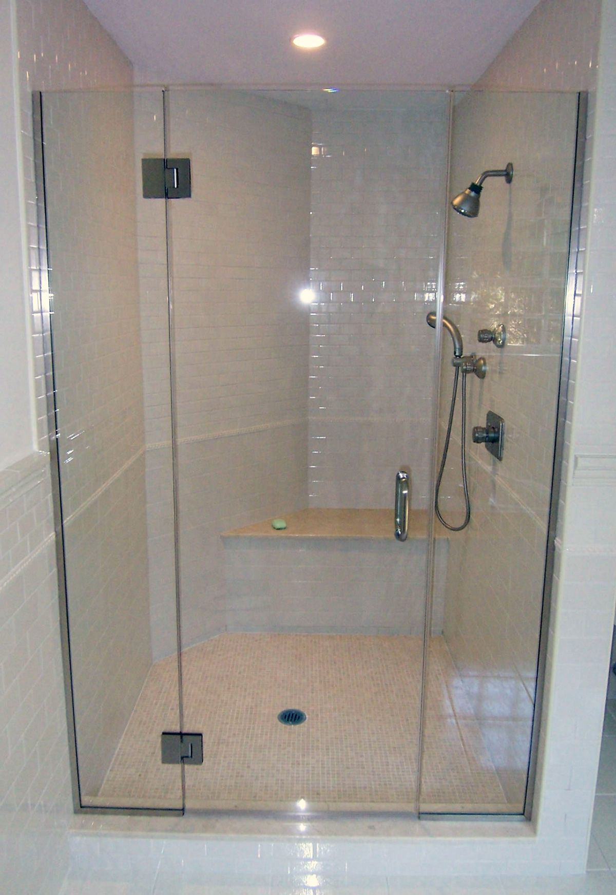Semi Frameless 3 Bathrooms Pinterest Frameless Shower Doors