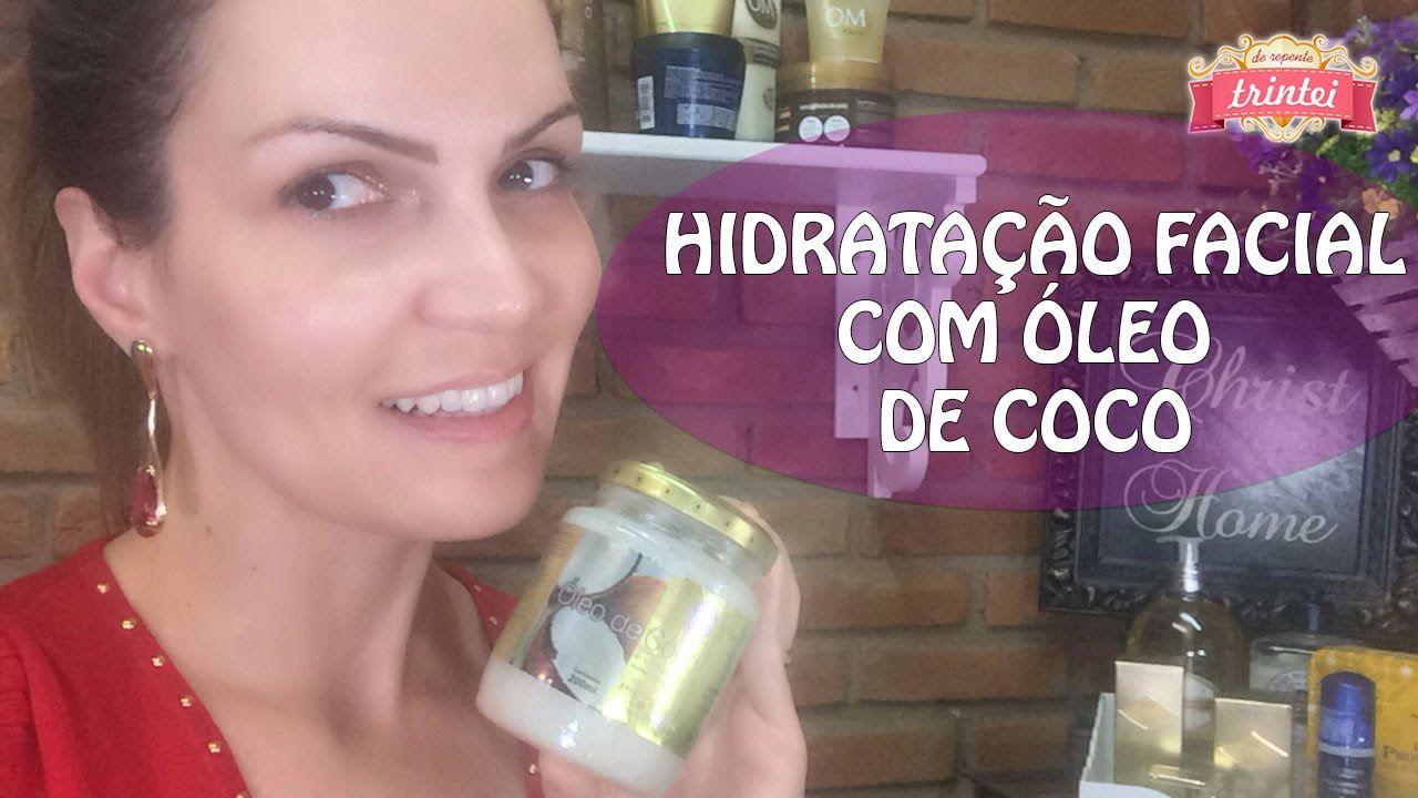 Hidratação Facial com Óleo de Coco