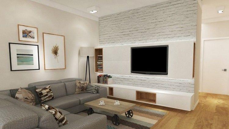 Modern Einrichten Fernseher Wohnzimmer