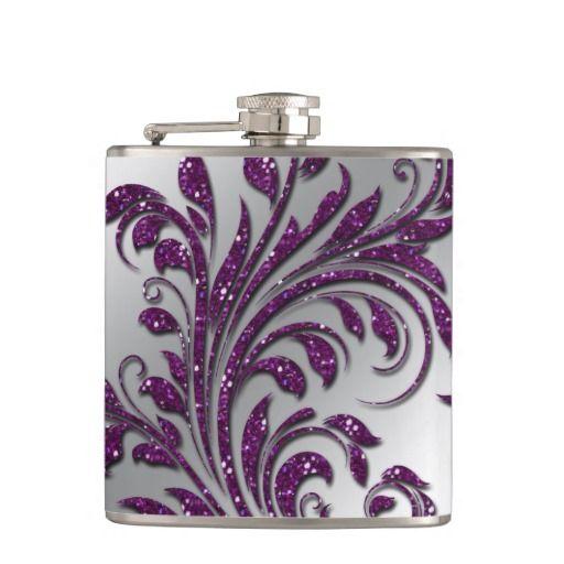 Wedding Leaf Glitter Purple Anniversary