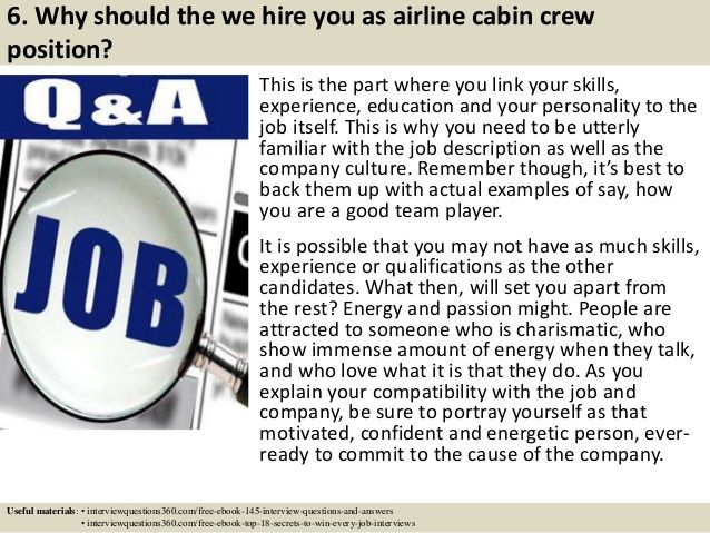 Top 10 airline cabin crew interview questions and answers Flight