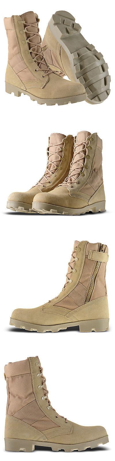"401c6e5beeb Boots 11498: Ameritac 9"" Side Zip Suede Leather Combat Work Outdoor ..."