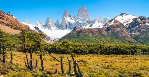 Los Glaciares National Park in Patagonia is home to Mt Fitz Roy and the Perito Moreno Glacier making it one of the top hiking destinations in the world.
