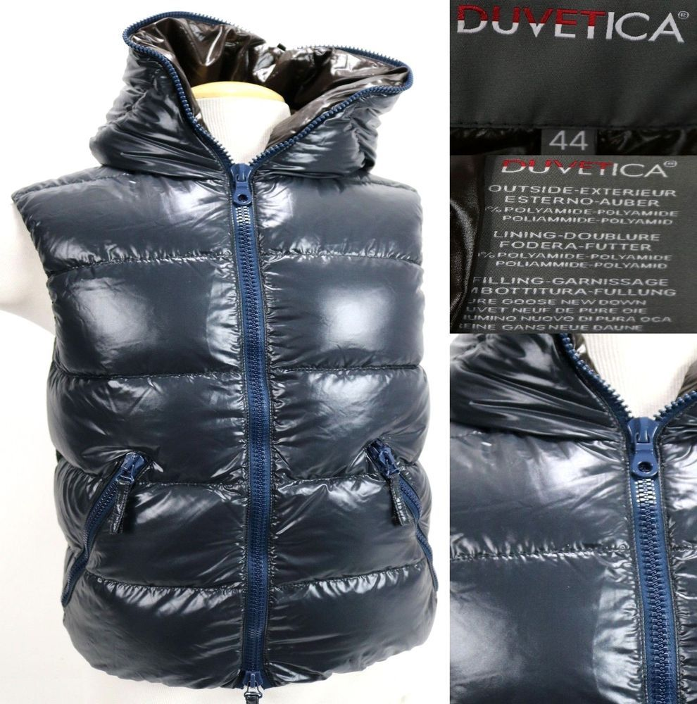 sports shoes 82198 b80fb Duvetica Women's $450 Goose Down Hooded Winter Vest Size 44 ...