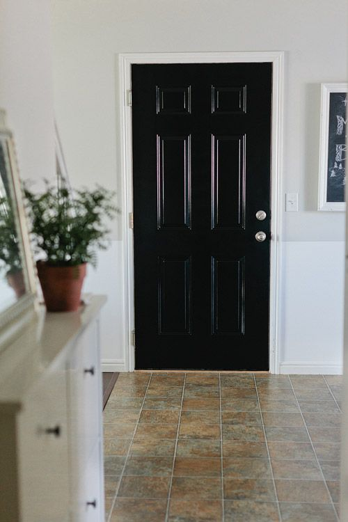 High Gloss Black Door Bold Black Interior Doors Doors Interior Accent Doors