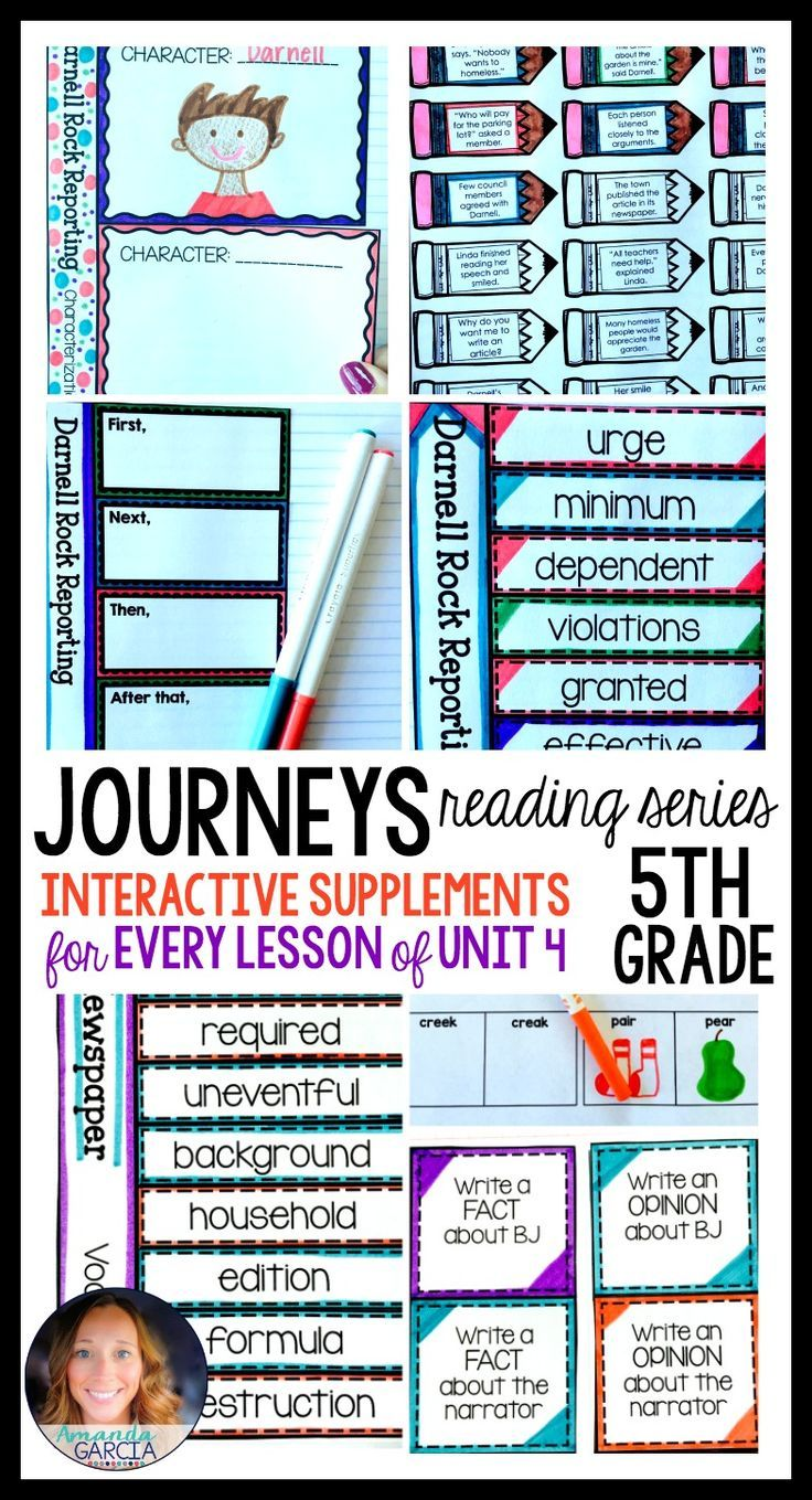 Journeys Grade 5 Unit 4 BUNDLE: Supplemental Materials with ...