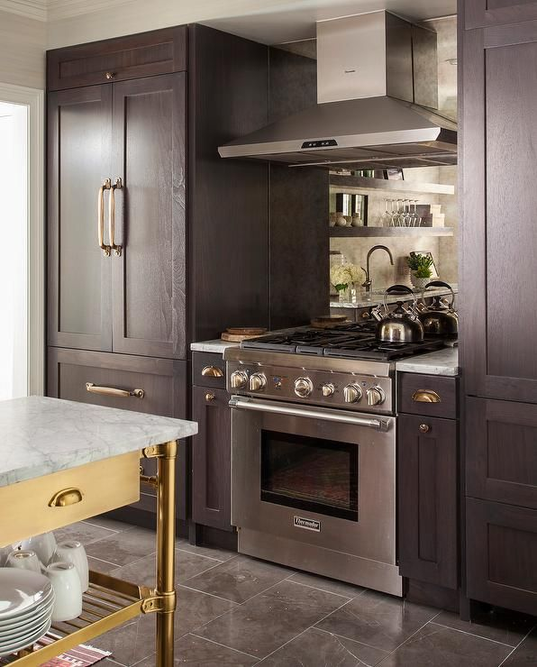 Gorgeous Kitchen Features A Stainless Steel Kitchen Hood